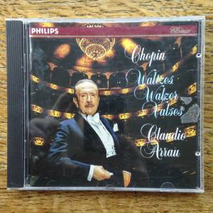 The First Commercially Released Compact Disc: Claudio Arrau's rendition of Chopin waltzes, released by Philips Classics in 1980, acquired by The Museum of Portable Sound in December, 2014.