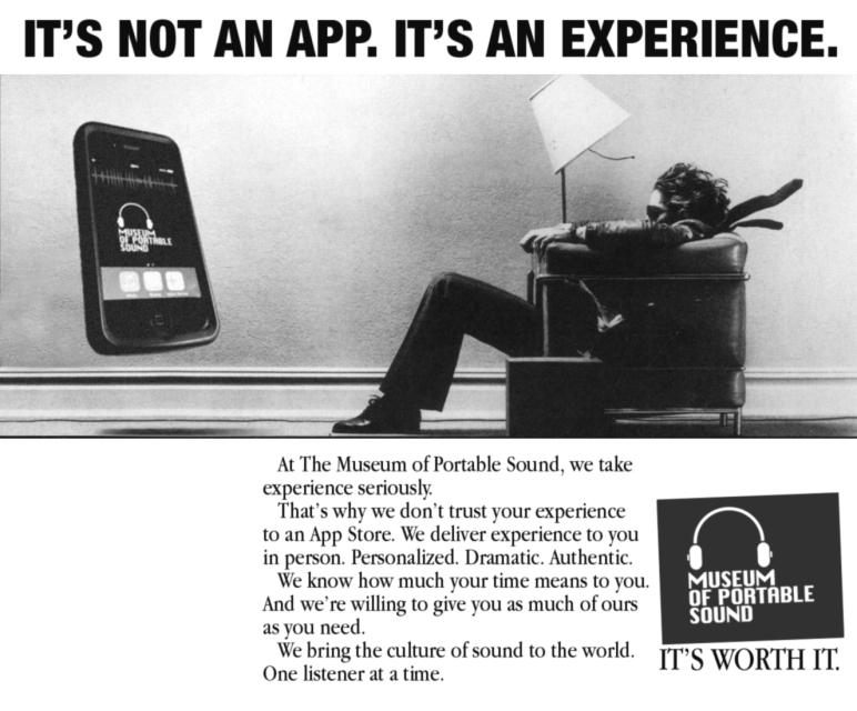 It's not an app. It's an experience.