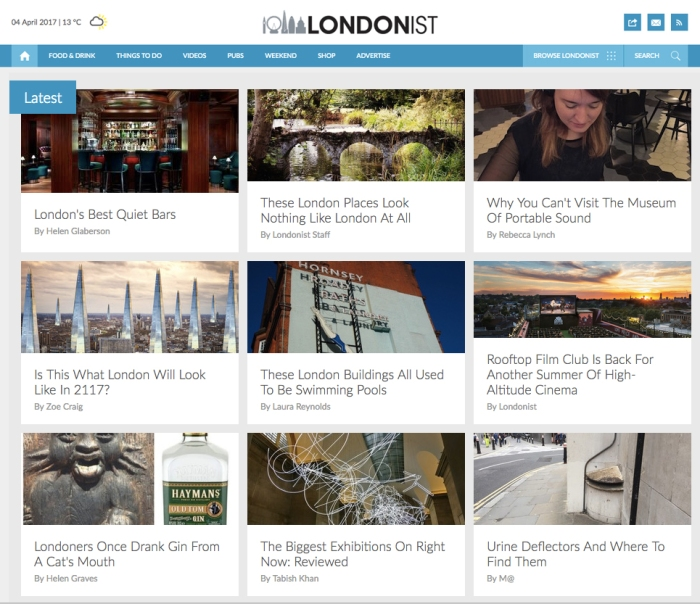 We're in Londonist!