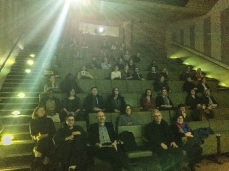 The audience in the V&A Sackler Research Centre's Hochhauser Auditorium.