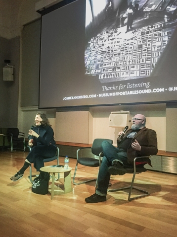V&A Senior Curator of Design and Digital Corinna Gardner moderates an all-too brief Q&A.